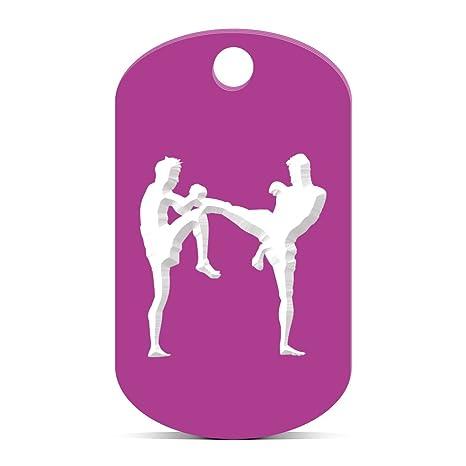 Amazon.com: Muay Thai Kickboxing Llavero GI Dog Tag Grabado ...