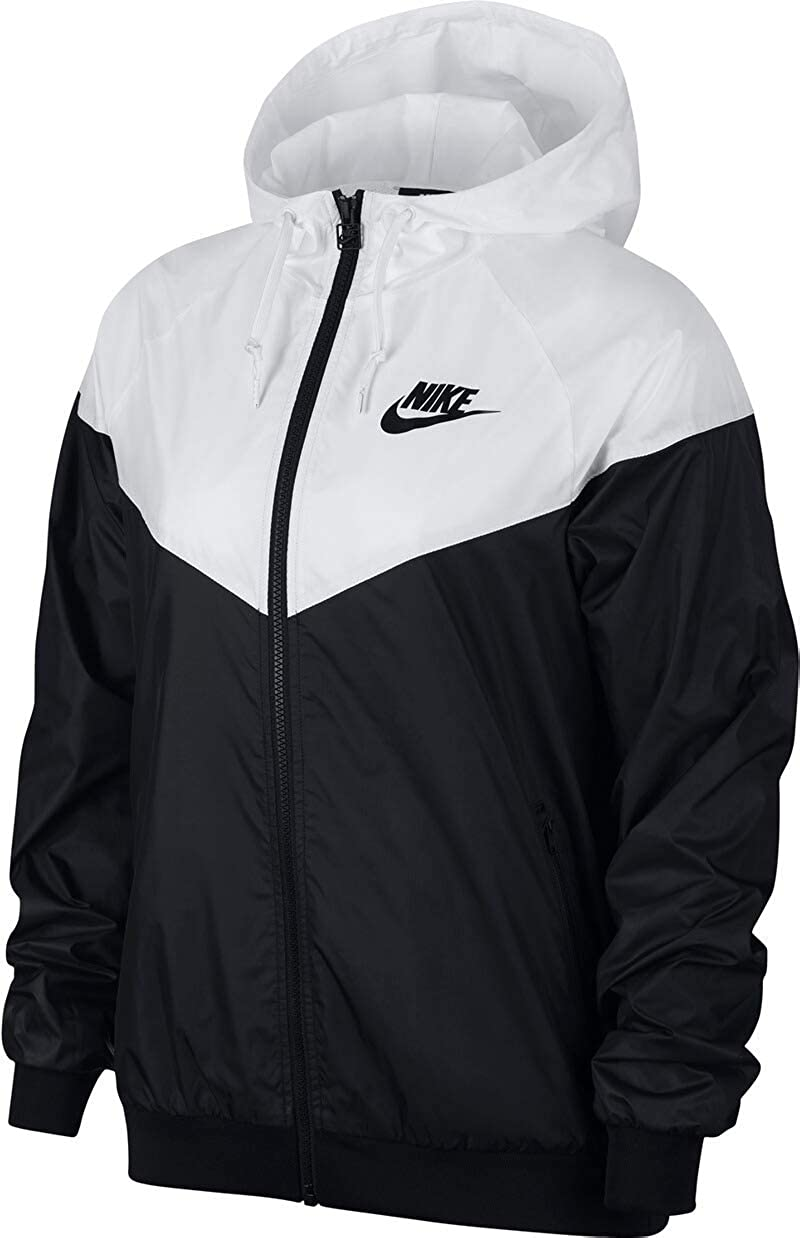 Black//White-010 Schwarz Nike Damen W NSW WR JKT Jacket