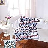 Brandream Soft Baby Blanket Kids Blankets Cotton Blue Milk Bottle Knitted Blanket
