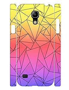 Fashion Series Cell Phone Case With Neon Geometric Triangle Design Solid Case Cover for Samsung Galaxy S4 Mini I9195