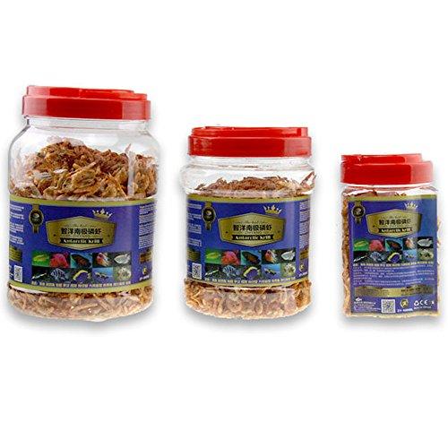 (Jacksupermall 3000ml Fish Food,101.44 Liquid oz, Aquarium Pond Koi Reptiles Turtle Food Floating Shrimp Krill Food Freeze Dried for Carnivore Tropical Cichlid Feed (3000ml))