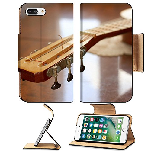 Liili Premium Apple iPhone 7 Plus Flip Pu Leather Wallet Case iPhone7 Plus acoustic guitar as music background Photo 9456394 Simple Snap Carrying