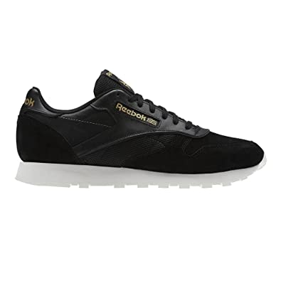 f2cfa5fa0fd Reebok Classic Leather Alr - Black Ash-UK 14 EU 50  Amazon.co.uk ...