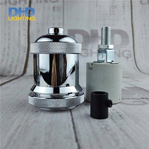 Kamas vintage threaded socket E27 Socket Edison Retro 11 colors could be choose DIY lamp accessories aluminum lampholder - (Color: chrome, Base Type: 10 units)