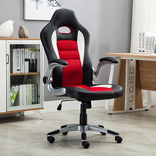 Belleze Race Seat Bucket Style Office Chair Ergonomic