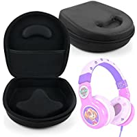 Hard Shell EVA Headphone Pouch Case (Black) - Compatible with Paw Patrol Skye Kid-Friendly Headphones - by DURAGADGET