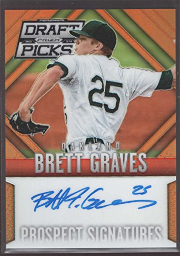 Brett Graves 2014 Panini Prizm Perennial Draft Picks Prospect Signatures Orange Prizms #5 Mint Auto (Best Perennials For Graves)