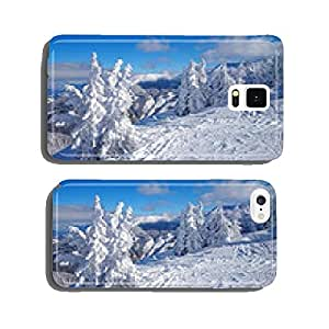 Snowy winter landscape cell phone cover case Samsung S5
