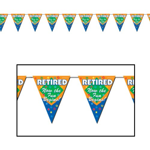 Retired Begins Pennant Banner Accessory product image