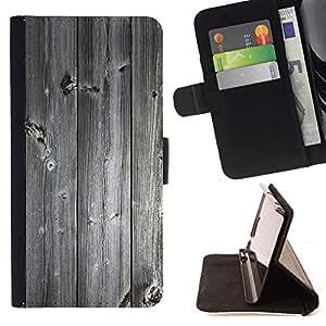 For Apple iPhone SE / iPhone 5 / iPhone 5S Case , Textura de madera Vintage Retro- la tarjeta de Crédito Slots PU Funda de cuero Monedero caso cubierta de piel