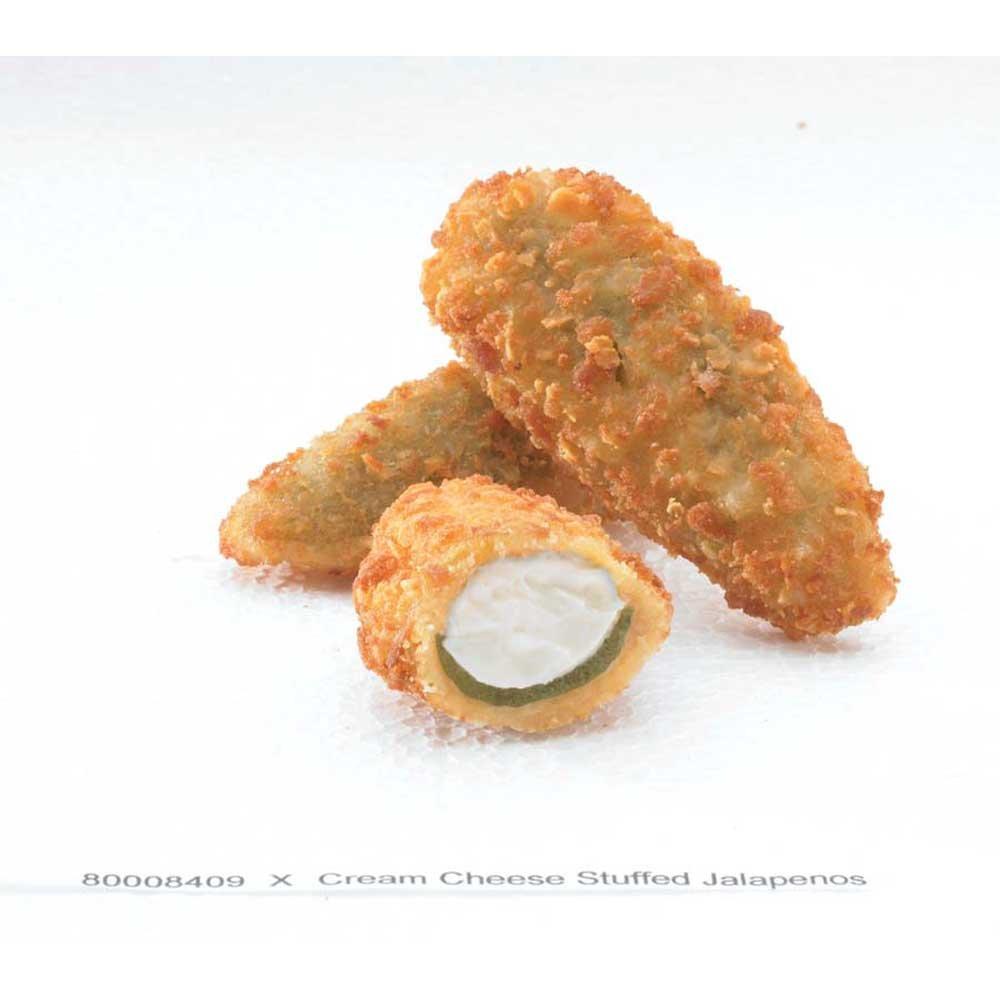 McCain Golden Crisp Breaded Cream Cheese Stuffed Jalapeno - Appetizer, 3 Pound -- 4 per case.