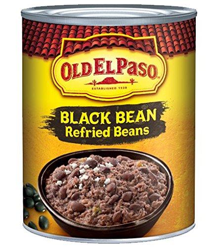 (Old El Paso Black Bean Refried Beans 16 oz (Pack of 6))