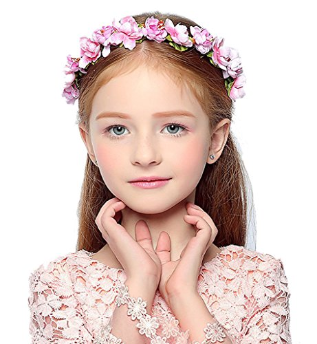 Sumolux Girls Womens Floral Crown Hairband Garland Festival Party Wedding Holiday (Blossom Crown)