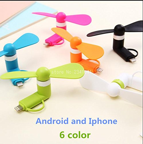 MINI FAN 2-IN-1 FOR IPHONE/ IPAD AND ANDROID (multi color pack of six)