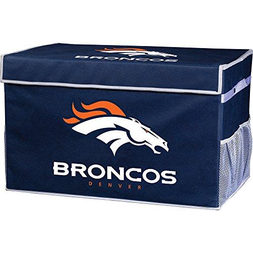 Franklin Sports Denver Broncos Collapsible Foot Locker Storage Bins - Team Logo Home Organizer - 26