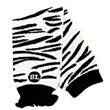 Babylegs Baby-Girls Infant Zippy Zebra Leg Warmer, White/Black, One Size