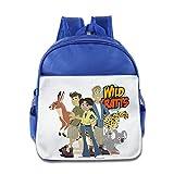 XJBD Custom Superb Wild Kratts Teenager School Bagpack Bag For 1-6 Years Old RoyalBlue