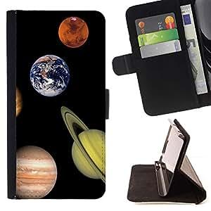 Momo Phone Case / Flip Funda de Cuero Case Cover - Sistema Solar Planetas Saturno Tierra Marte Júpiter - Sony Xperia Z3 D6603