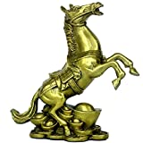 Chinese Fengshui Handmade Brass Rich Horse Statues Home Decor Gift