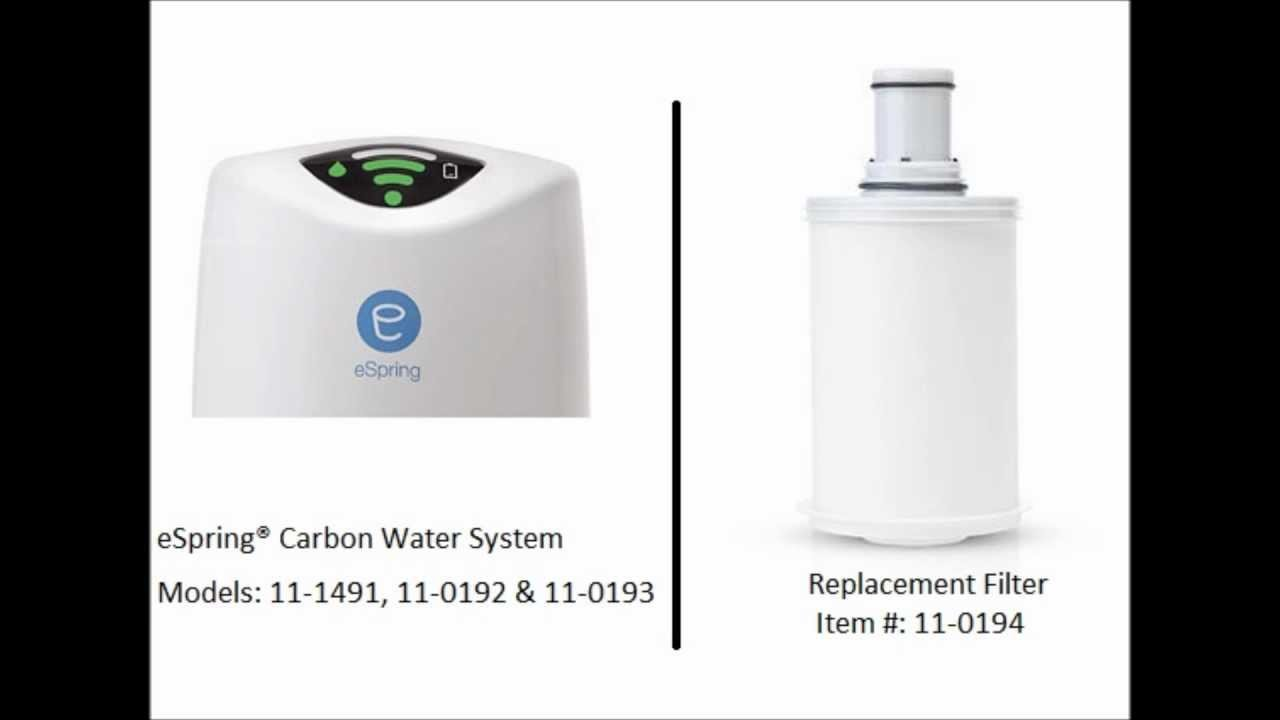 eSpring Carbon Water Treatment System - Replacement Filter 11-0194( No UV light , Does not work for the UV light system )
