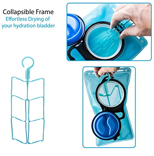 Hydration Bladder Cleaning Kit - 5 in 1 Water Bladder Cleaning Kit for Universal Bladders - 3 Brushes - 1 Collapsible Frame - 1 Carrying Pouch by InnerFit (Image #2)