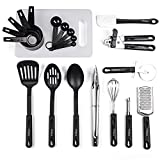 nylon cookware utensils - Yehua Kitchen Utensil Set 21 Nonstick Cooking Utensils Set Best Kitchen Utensils for Non Stick Cookware Set, Pots, Pans - Stainless Steel and Nylon