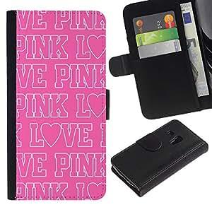 iBinBang / Flip Funda de Cuero Case Cover - Texto Blanca Patrón repetitivo - Samsung Galaxy S3 MINI NOT REGULAR! I8190 I8190N