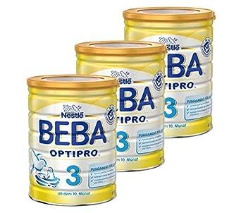 Nestlé BEBA OPTIPRO 3, Folgemilch ab dem 10. Monat, Baby-Nahrung als Pulver, im Anschluss an das Stillen, bei angemessener Beikost, 6er Pack (6 x 800g Dose) Nestlé BEBA OPTIPRO 3 Nestlé Nutrition GmbH 12346578