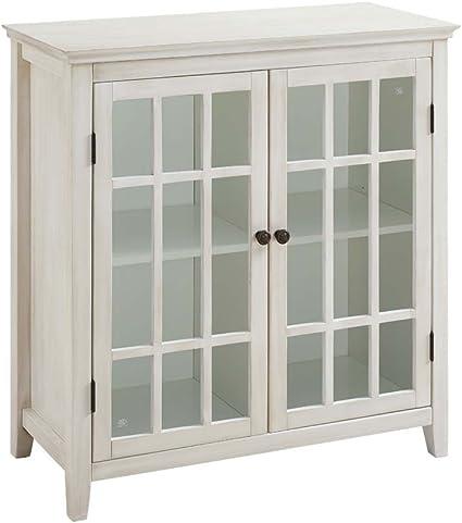 curio cabinet decorating ideas.htm amazon com linon largo antique white double door cabinet kitchen  amazon com linon largo antique white