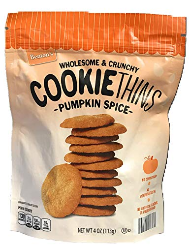 Benton's Wholesome and Crunchy Cookie Thins Pumpkin Spice No Artificial Flavors or Preservatives