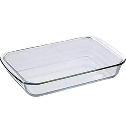 HMR - Bandeja de cocción de Vidrio Templado, Plato de Pescado ...