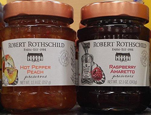 Robert Rothschild Preserves Variety Pack - Hot Peach & Raspberry 12 oz (Pack of 2)