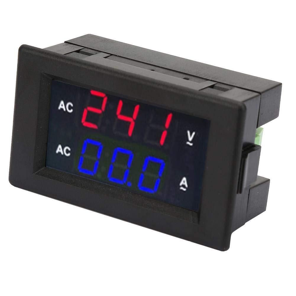 rosso-blu multimetro digitale AC 100~300 V voltmetro 0-50 A amperometro con display digitale a LED Misuratore di tensione di corrente alternata 2 in 1