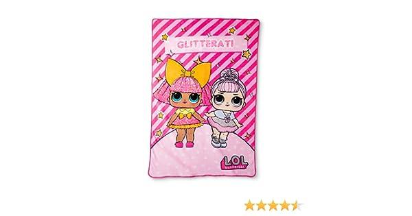Amazon Com Lol Glitter Gal Plush Blanket 62x90 Home Kitchen
