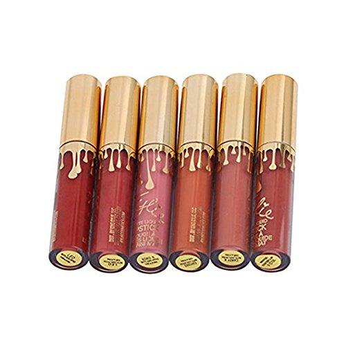 Frcolor Matte Lip Gloss Set - 6 Pieces