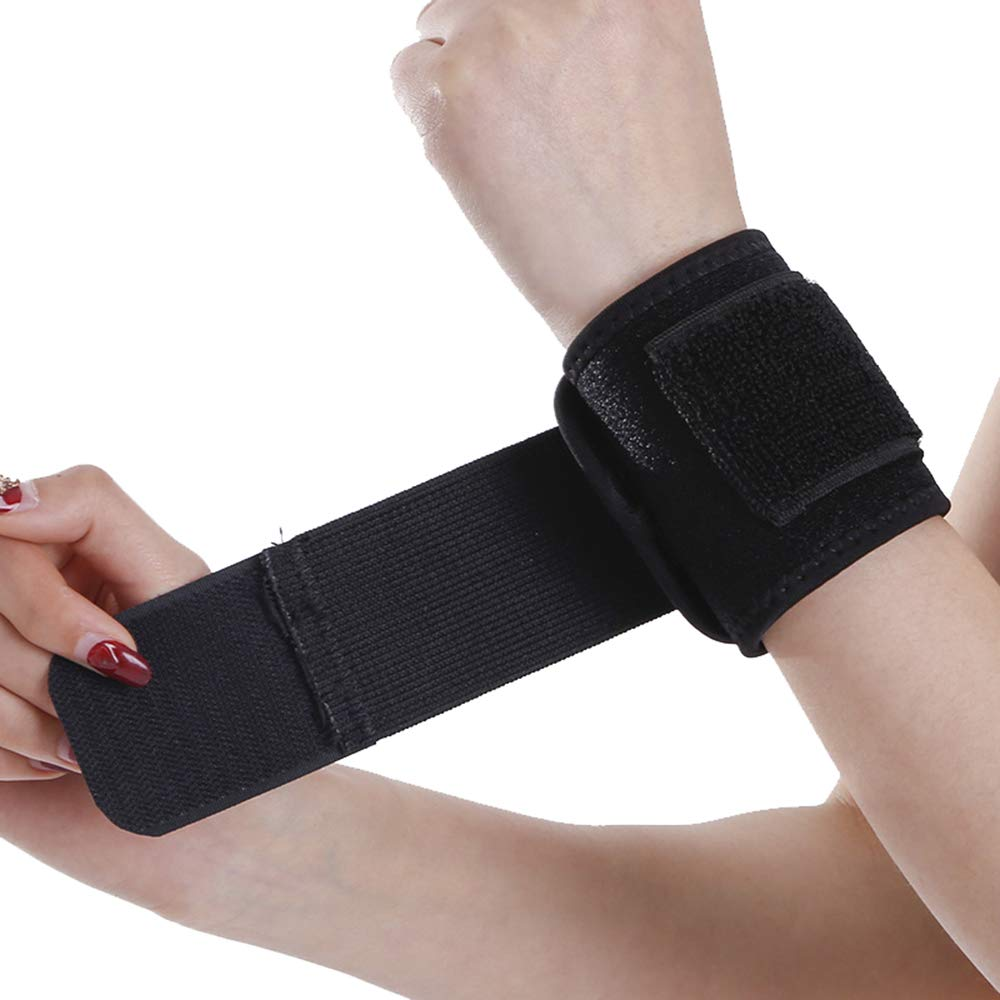 Xeminor Sports Wrist Band Support Adjustable Breathable Wrist Brace Protector Compression Strap Suitable for Gym Sports Exercise(1Pcs)