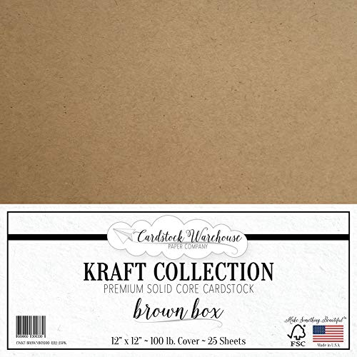 (Brown Kraft Recycled Cardstock - 12