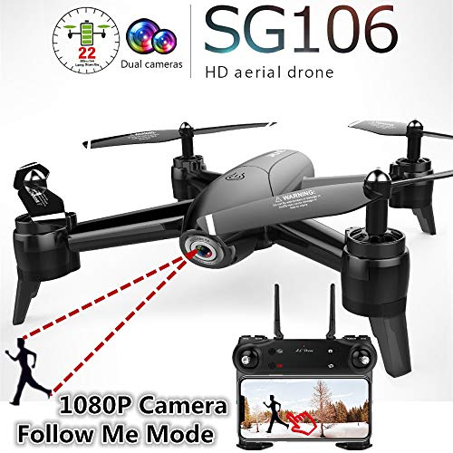 (RENYAYA SG106 RC Drone Optical Flow 1080P HD Dual Camera FPV WiFi Real Time Aerial Video RC Quadcopter Aircraft Helicopter)