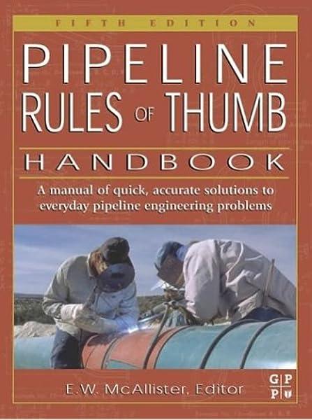 edition fifth handbook pipeline rule thumb