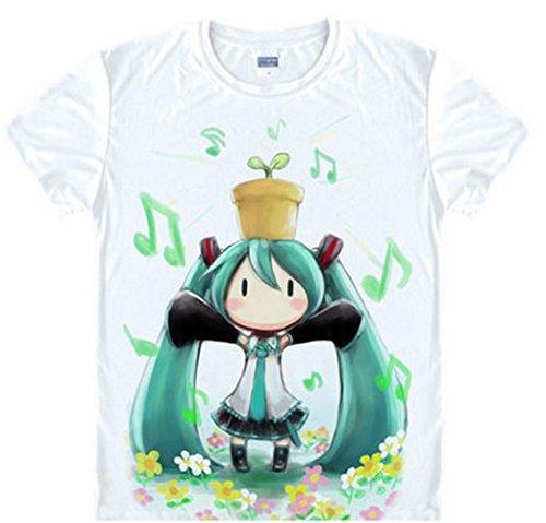 Cheap Cartoon Anime Hatsune Miku Silk Cosplay T-shirt