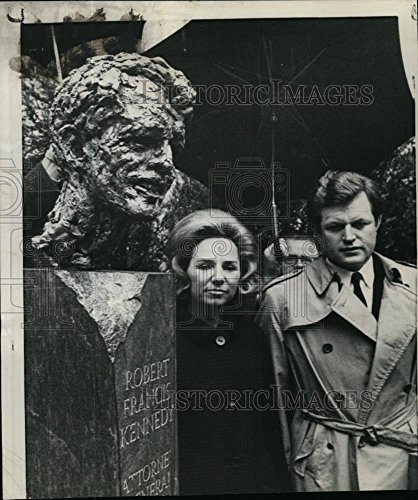 1969 Wire Photo Sen Edward Kennedy and Mrs Ethel Kennedy for sale  Delivered anywhere in USA