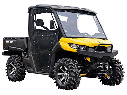 SuperATV Heavy Duty Full Cab Enclosure Doors for Can-Am Defender HD 5 / HD 8 / HD 10-2 Front Doors (2016+)