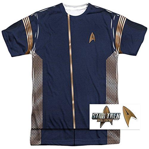 Popfunk Star Trek Discovery Command Uniform Adult Short Sleeve T Shirt (XXX-Large)