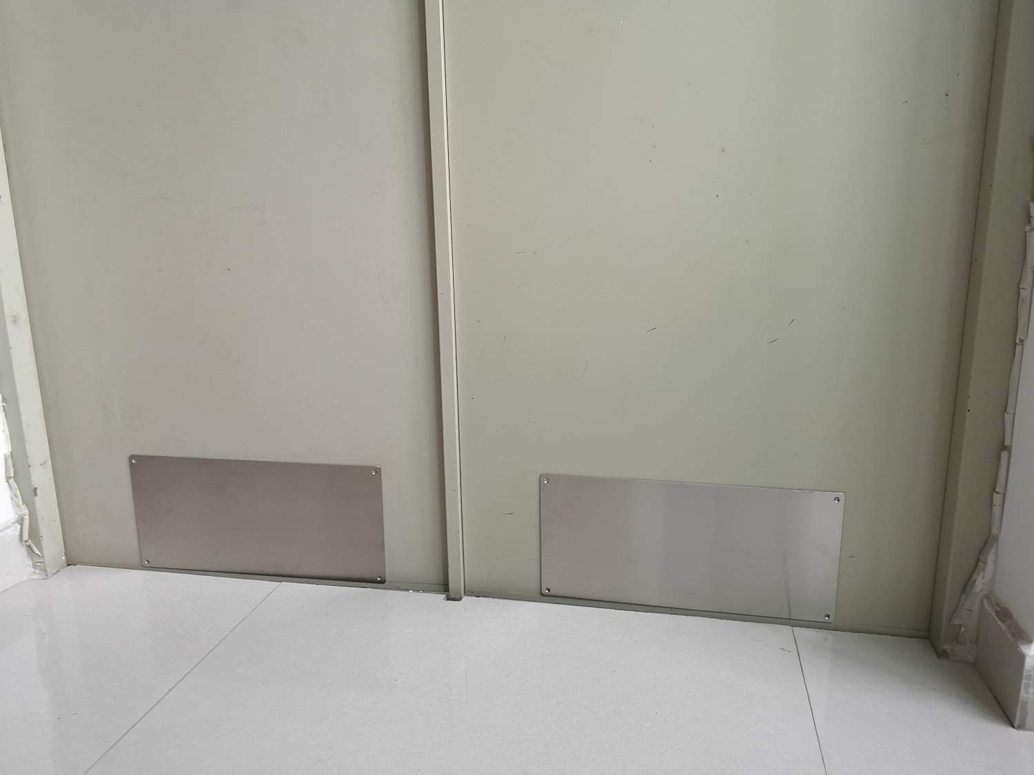 Promotion! VRSS Pack of 2 Satin Finish 304 Stainless Steel Kick Plate 200mm Height x 430mm Width 1.2mm Thick, 2 Pack by VRSS (Image #5)