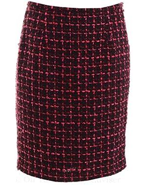 Women's Boucle Tweed Pencil Skirt