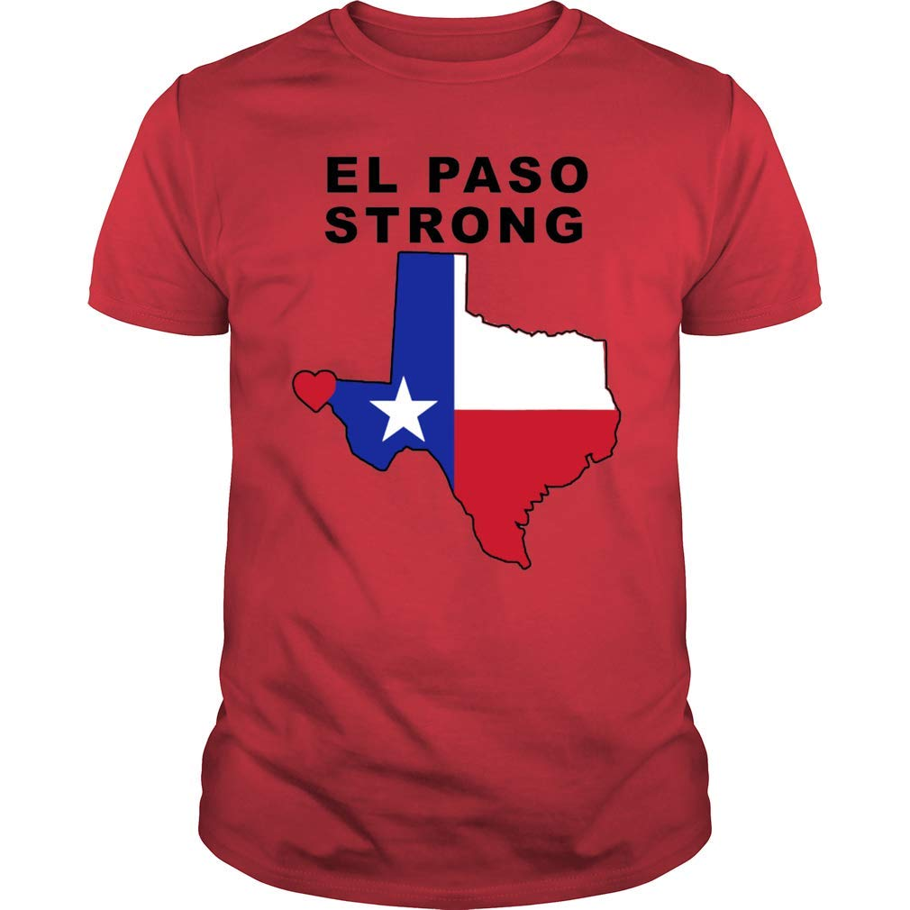 Gearliness El Paso Strong Star Texas Support T Shirt