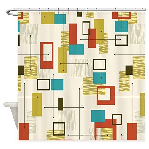 CafePress – Fun Geometric, Mid Century Modern – Decorative Fabric Shower Curtain (69″x70″) 515H99v 2BpWL