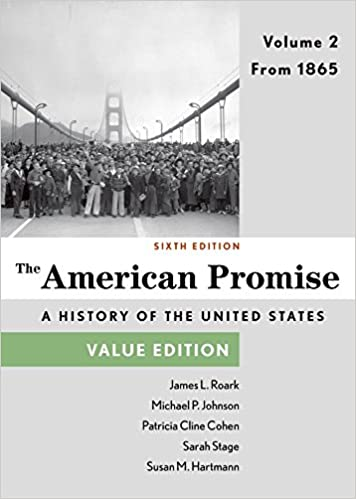 Amazon the american promise value edition volume 2 from 1865 the american promise value edition volume 2 from 1865 sixth edition fandeluxe Choice Image
