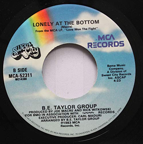 B.E. TAYLOR GROUP 45 RPM LONELY AT THE BOTTOM / VITAMIN - Vitamin Bottoms