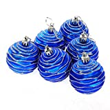 The traditional color theme will bring you an atmosphere of holiday easily.Ornaments are equipped with metal hooks and easy to hang on tree.Shatter-resistant composition offers lasting durability for many seasons of use. Guaranteer:  If it is...